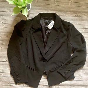 Torrid Plus Size Black Button Blazer